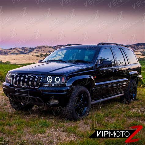 jeep grand wj limited sinister black 1999 2004 jeep grand wj wg halo led headlights