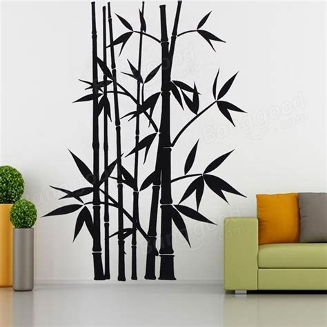 removable bamboo wall stickers home decor decoration