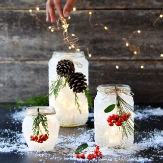 minute diy snow frosted mason jar decorations magical