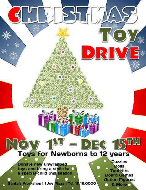 Toy Drive Flyer Template Word by Download This Free Christmas Toy Drive Flyer Template For