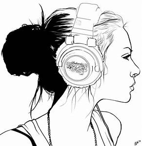 Headphone Punk lineart by FoxVanity on DeviantArt