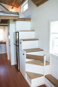 Modern Farmhouse Tiny House On Wheels With Storage Stairs