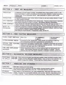 Bleach MSDS Sheet