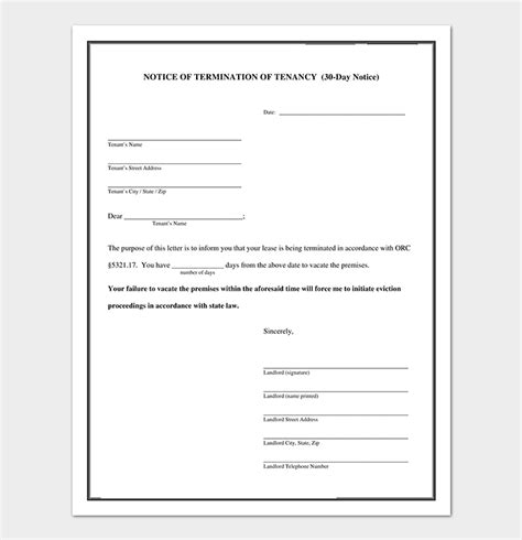 eviction notice  sample letters templates popular