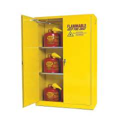 flammable storage cabinet self closing doors 45 gallon