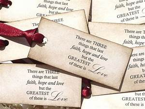 love quote wedding favor tags claret ribbon fairytales With wedding sayings for favors