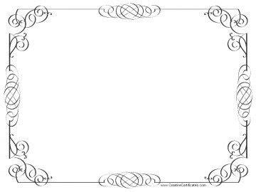 blank certificate border printable birthday certificates