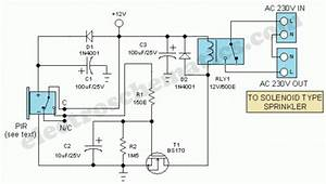 Motion Sensor Switch For Alarm  Light Or Water Sprinkler