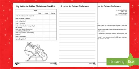 ks differentiated letter  father christmas writing sample