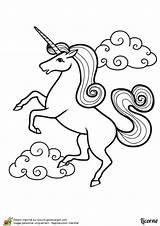 Licorne Coloriage Unicorn Coloring Imprimer Dessin Dessiner Une Colorier Hugo Belle Licornes Einhorn Cartoon Unicorns Rock Escargot Avec Malvorlage Magique sketch template