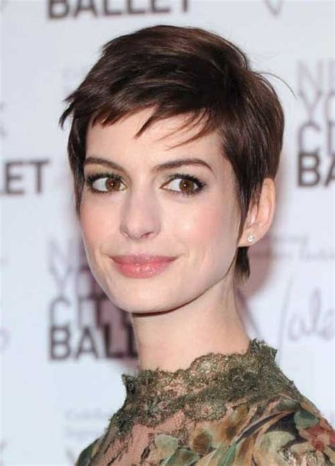 anne hathaway pixie cuts short hairstyles