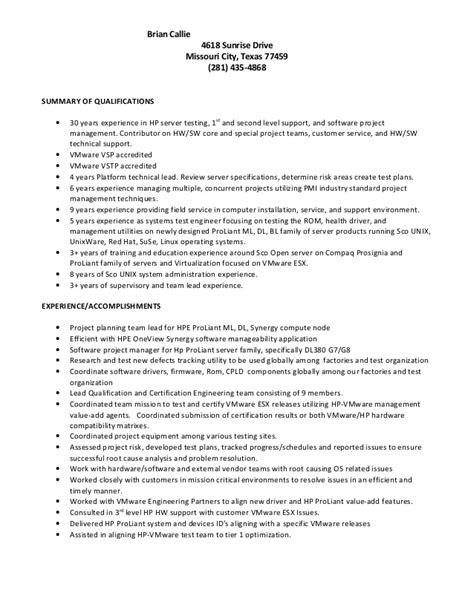 30 Years Of Experience Resume by Brian Callie Resume
