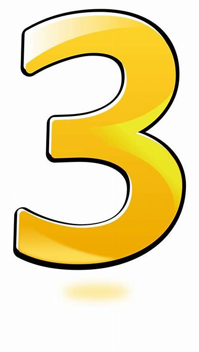 Number Clipart Three Vippng Yellow Ai Downloads