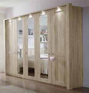 Kleiderschrank Mit Beleuchtung : schrank mit dreht ren eiche s gerau dekor mit spiegelglas farim ~ Sanjose-hotels-ca.com Haus und Dekorationen