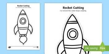 rocket cutting worksheet worksheet back to school junior infants cut