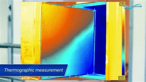 operating principle air curtain air door at a freezer