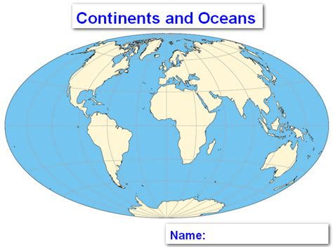 Labeling The World Map