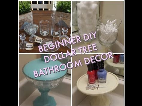 Beginner Diydollar Tree Bathroom Decor!  Youtube