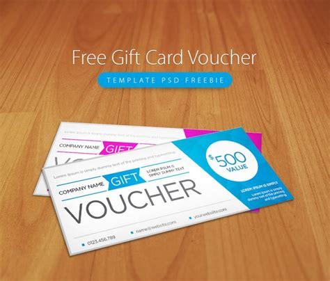 gift card voucher template psd freebie  psd