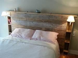 Lit Maison Bois : tete de lit en bois de recuperation maison design ~ Premium-room.com Idées de Décoration