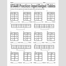 Staar Practice  Inputoutput Tables By Staar Destroyer Math Tpt