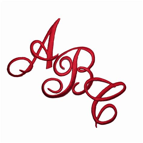iron  script letter patches embroidered monogram letters  colors usa seller ebay