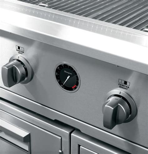 zggnbpss monogram  outdoor cooking center stainless steel