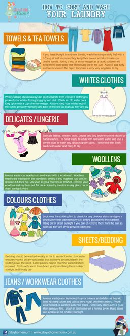 How To Sort And Wash Your Laundry  Stay At Home Mum