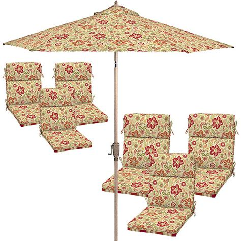 better homes and gardens patio cushion set with umbrella