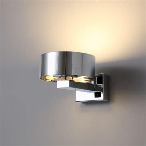 lwa298 poloshed chrome 6 watt led bedside wall reading