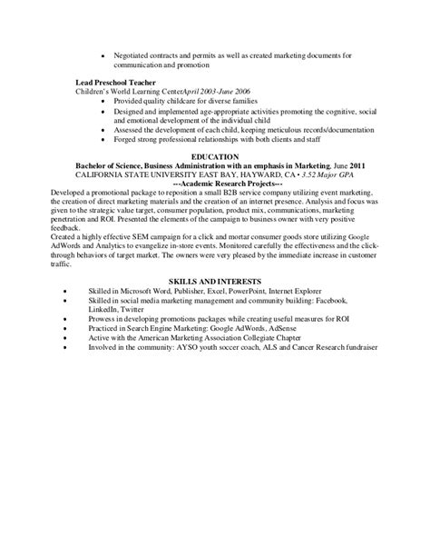 marketing coordinator resume