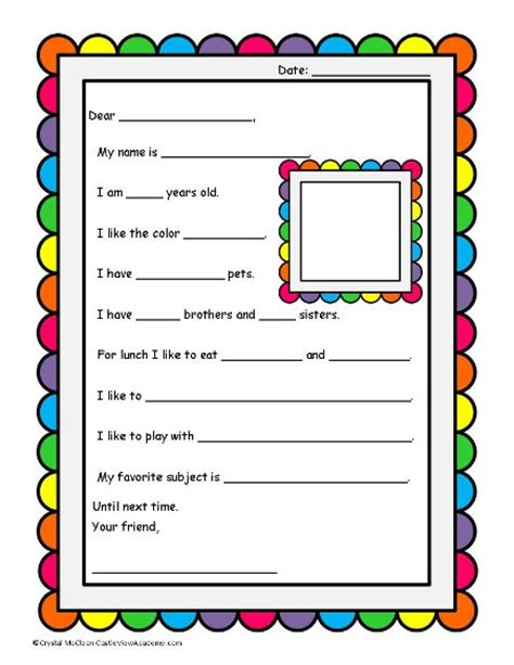 pen pal letter template penpals the letter castle view academy