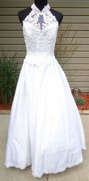 jcp wedding dresses wedding dresses alfred angelo pearls white halter top wedding dress sz 4p jcpenney stains
