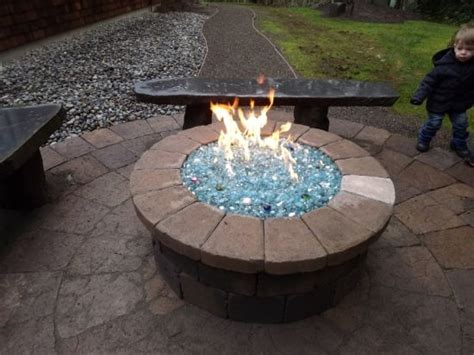Backyard Propane Pit by Propane Pit With Glass Can Build This Pit For