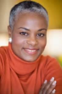 Short Gray Hair On Black Women