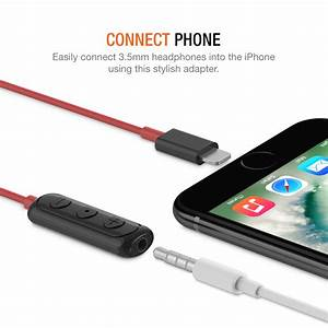 Iphone Lightning To 3 5mm Headphone Jack Hifi Adapter  U2013 Red