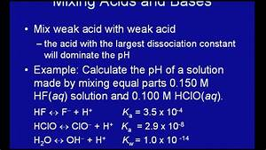 Mixing Strong Acid With Weak Acid