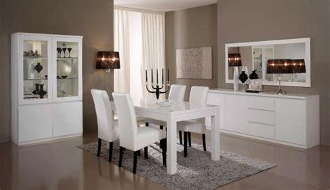 cuisine repeinte en blanc salle a manger complete roma laqué blanc laque blanc