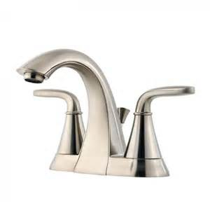 pfister f 048 pdkk brushed nickel pasadena centerset bathroom sink faucet modern bathroom