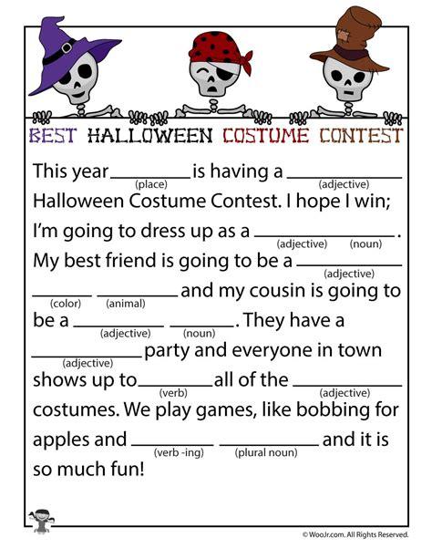 best costume contest mad lib woo jr activities