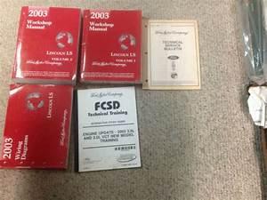2003 Lincoln Ls Service Shop Repair Manual Set Oem W Ewd