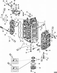 Mercury Marine 250 Hp Pro Xs  3 0l Dfi  Cylinder Block  U0026 End Cap Parts