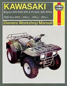 Haynes Manual Kawasaki Klf220 300 Bayou 86