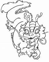 Chinese Coloring Dragon Pages Printable Nian Monster Drawing China Lion Drawings Tattoo Ancient Adults Sheets Cartoon Deviantart Traditional Animal Print sketch template