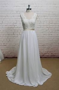 chiffon wedding dresses lace beach wedding dress on luulla With luulla wedding dresses