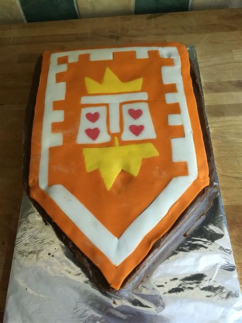 edwards  birthday cake nexo knights shield underwoe