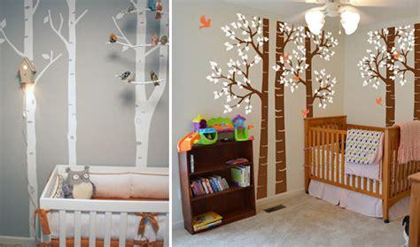 chambre foret la déco forêt pour chambre bébé une affaire d