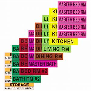 home apartment moving labels the container store With colored moving labels