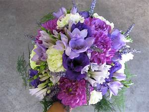 purple bridal bouquet | Stadium Flowers