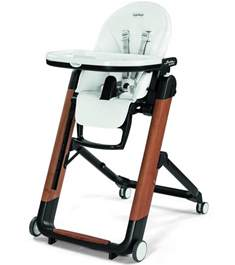 peg perego siesta wood high chair bianco